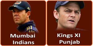 आइपीएल 6 का इकतालीसवां मैच मुम्बई इंडियन्स और किंग्स एलेवेन पंजाब के बीच होना है।