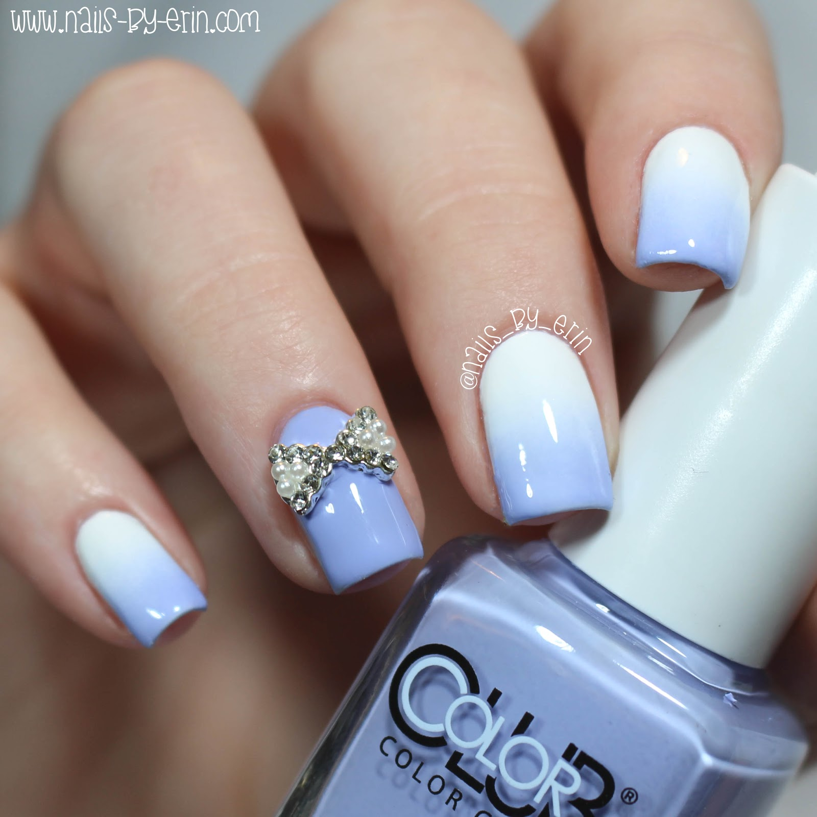 NailsByErin: Soft Purple Gradient Nails with Born Pretty Store Bow