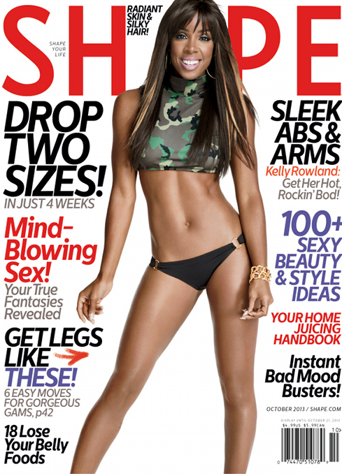 Magazine Love: Kelly Rowland Covers Shape Magazine for the October Issue! And Let Me Tell You Momma Is Working IT!