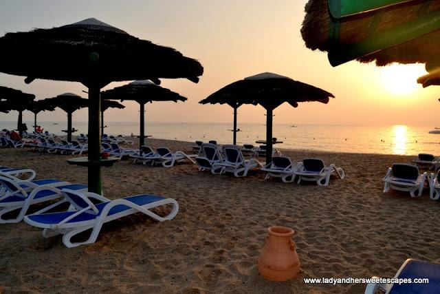 Fujairah Rotana Resort and Spa's sandy beach