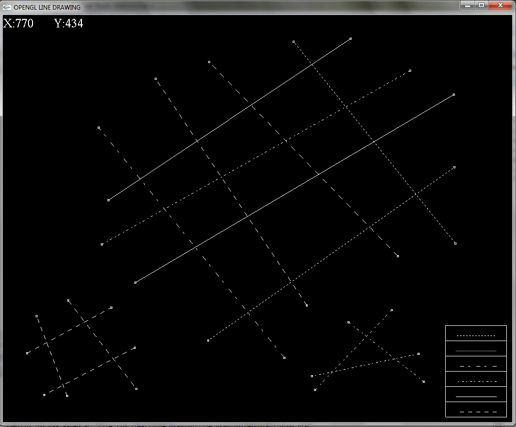 Line Drawing Using Opengl : Born to code using styles of lines and letting user