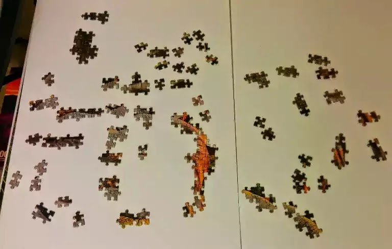 Ravensburger African Animals 3000 piece jigsaw puzzle close-up 4