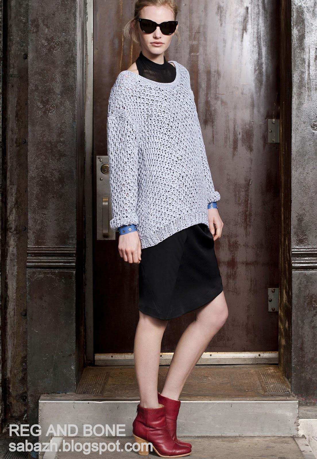 Стильний в'язаний светр 2012