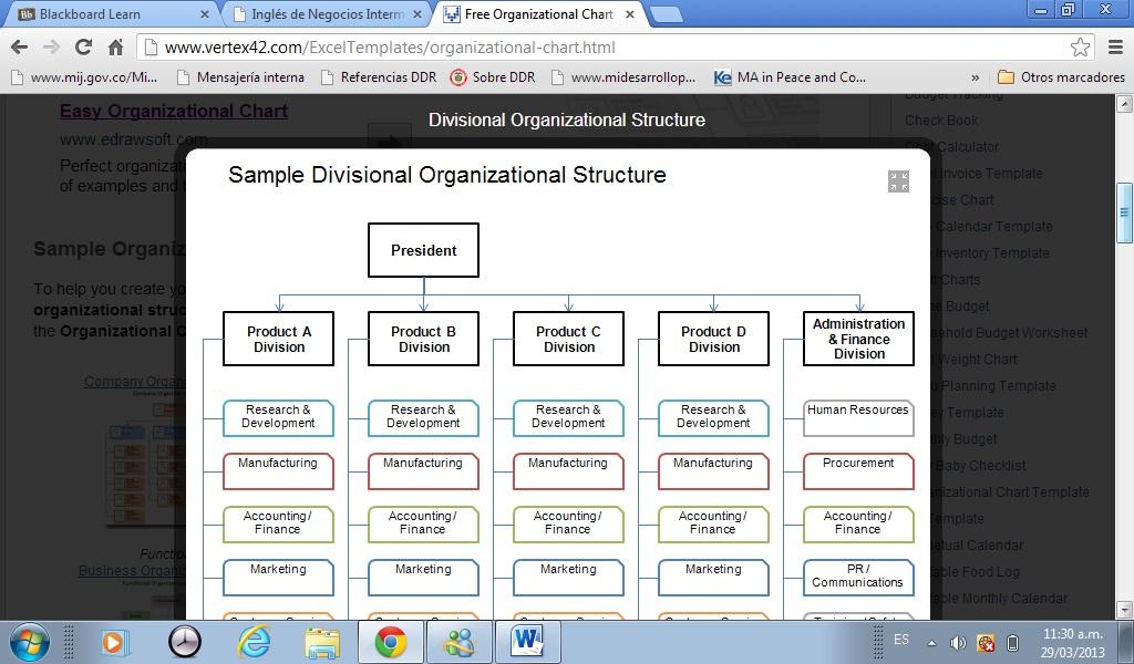 windows  How to make a matrix organization chart  Super