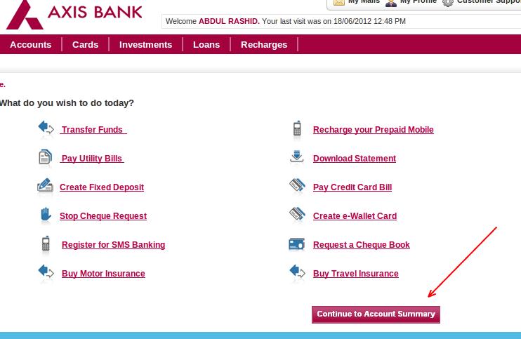 Car Loan Axis Bank Statement