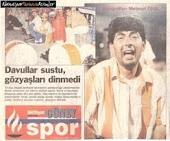 Antalya'da şekerle play of maçı sonrası.