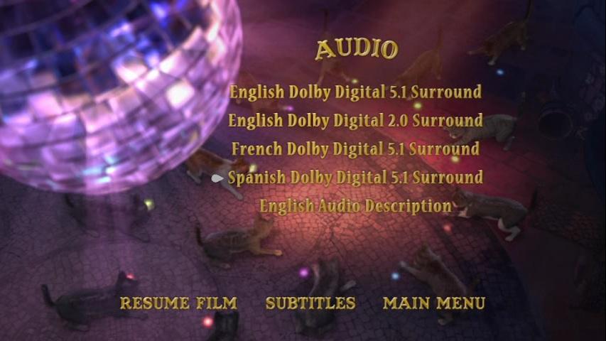 Gato con Botas DVDR Español Latino NTSC