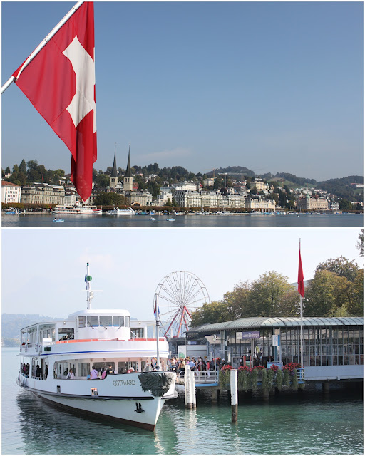 Ferry terminal in the city of Lucerne in Switzerland