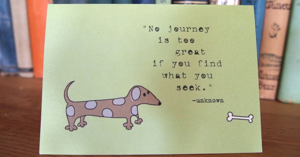 ripening life: No journey is too great .....