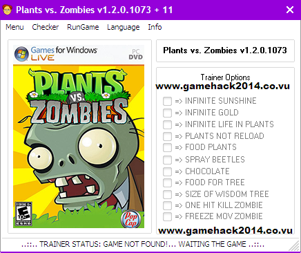 Plants vs. Zombies v1.2.0.1073 (+11 Trainer)