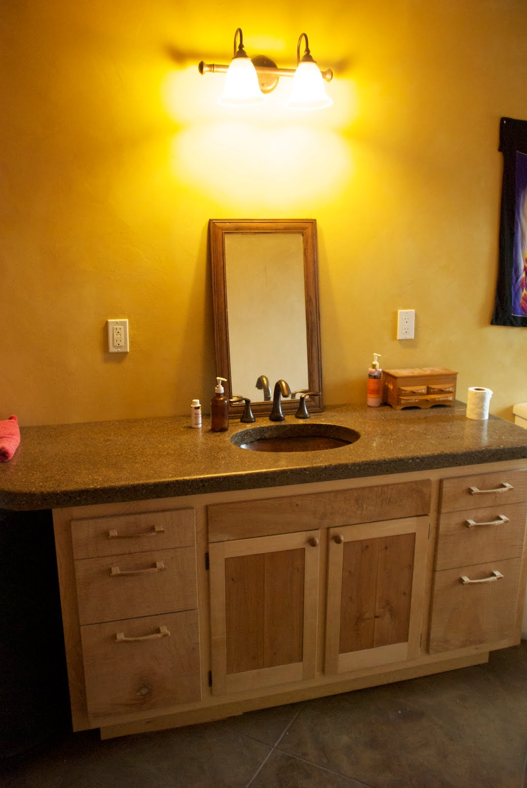 Countertop Linen Cabinet : California Homesteading: Master Bathroom Cabinet with Countertop