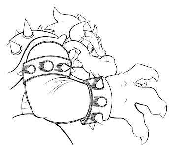 #7 Bowser Coloring Page