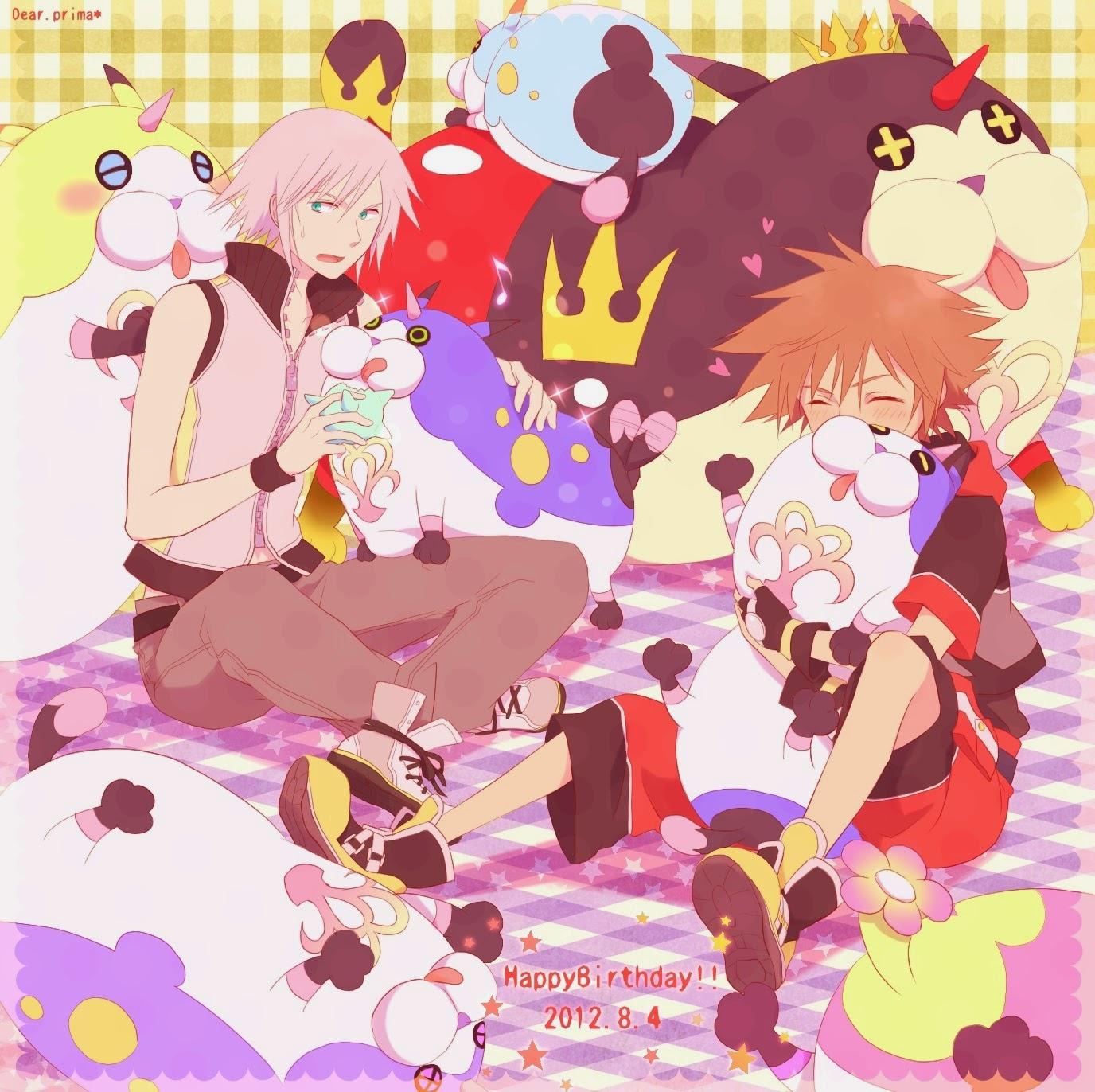 riku and sora,riku x sora,anime wallpaper