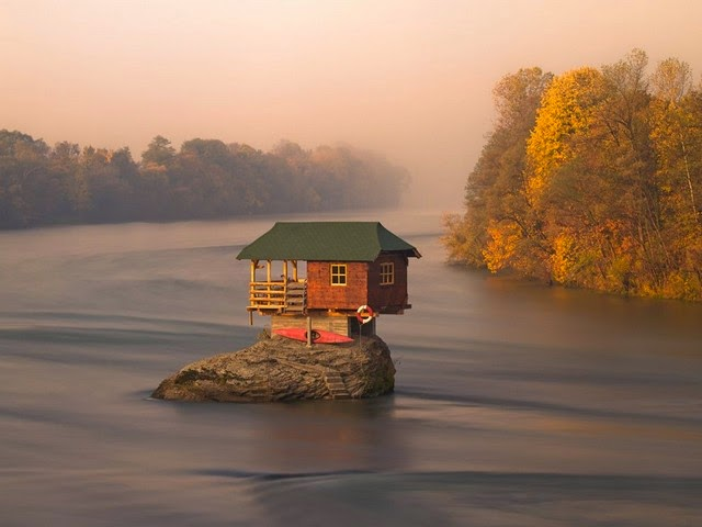 River house in Serbia photo