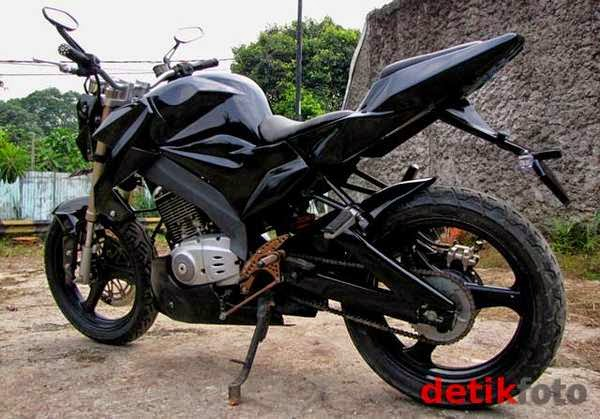 modifikasi motor thunder street fighter