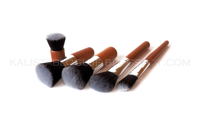 Fashion 11PCS Bamboo Handle Soft Makeup Brushes - bambusowe pędzle do makijażu