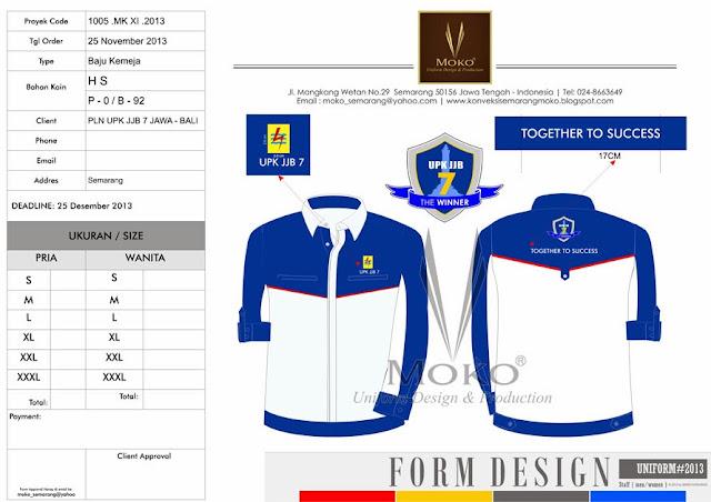 Desain Konsep Pakaian Wearpack PLN - Harga Baju Wearpack PLN UPJ JJB 7 Jawa Bali
