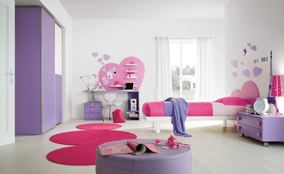 Teen Bedroom Design Ideas with Love Theme