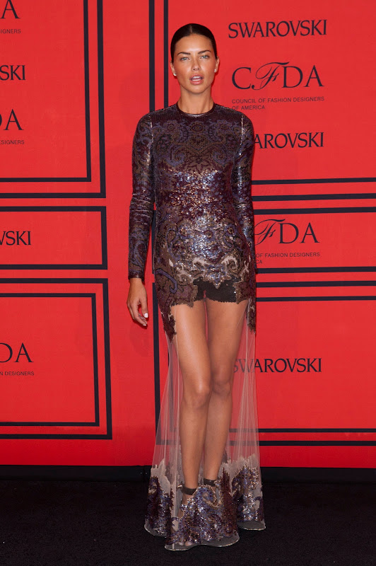 Adriana Lima attends 2013 CFDA Fashion Awards