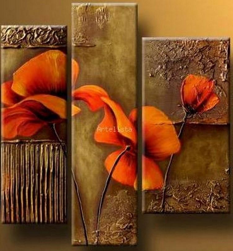 Cuadros modernos pinturas y dibujos flores pinturas al - Cuadros para comedor moderno ...