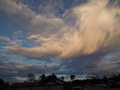Hovering Cloud at Sundown - Sky Photos January 2, 2016
