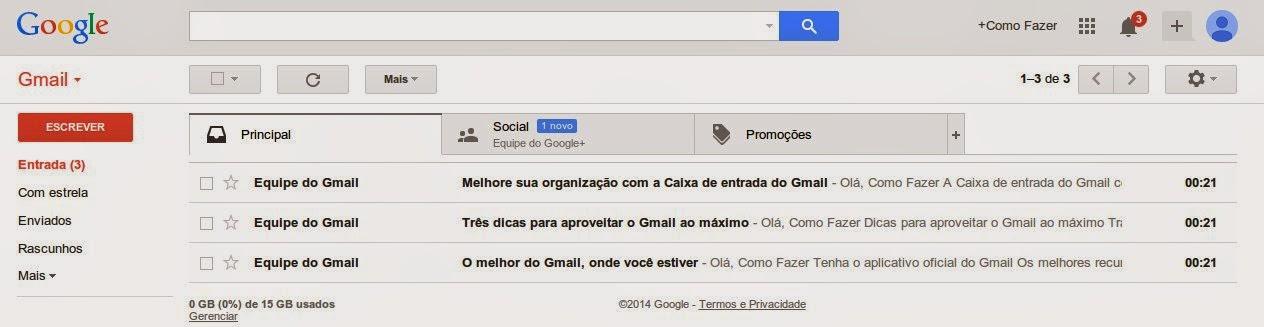 Passo a passo parar criar uma conte de email do Gmail do Google