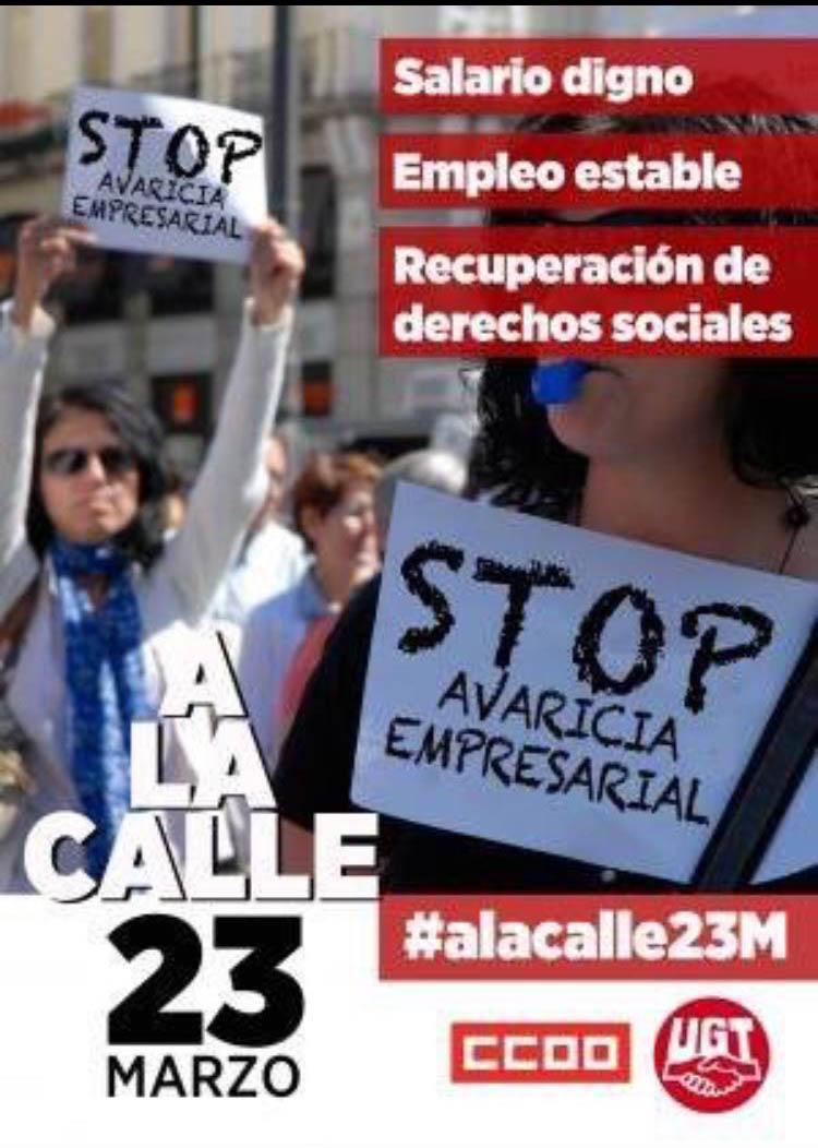 ¡SAL A LA CALLE!! HACES FALTA