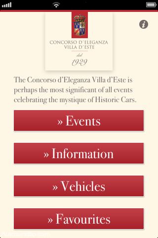 Concorso d'Eleganza Villa d'Este App für iPhone