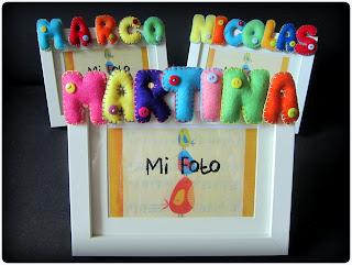 Letras y Nombres en fieltro - ChikiPol