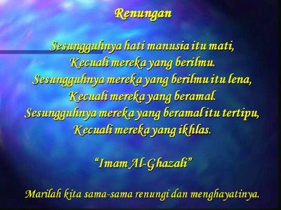 Pesanan & Kata-Kata Hikmah Imam Al-Ghazali