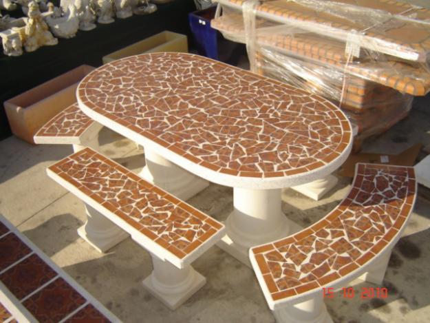 Decoracion actual de moda muebles de piedra para el jard n for Precio de piedras para jardin