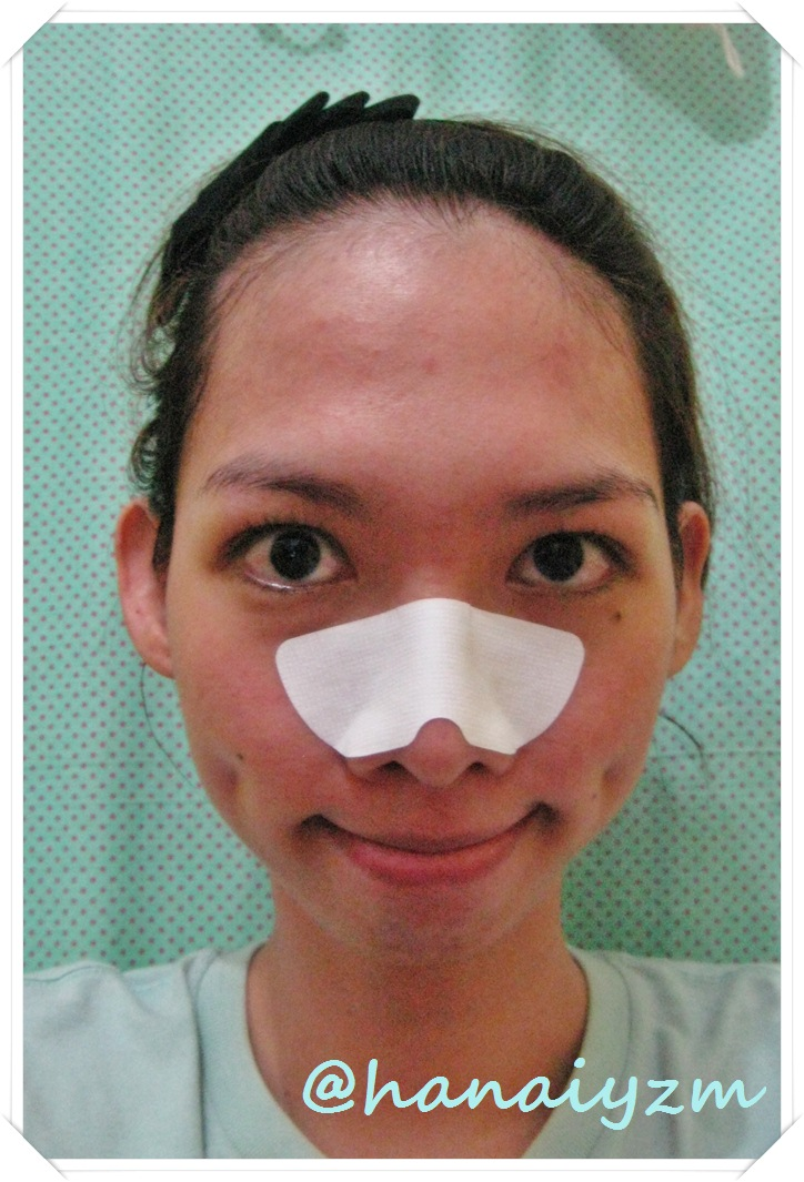how to put a pore strip on