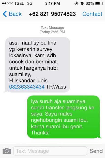 sms penipuan dengan respon yang lucu dan kocak-5