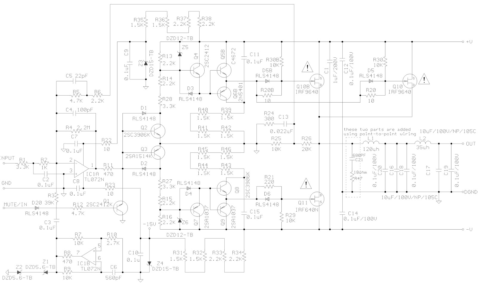 jbl sub150 - jbl sub230 - active sub-woofer - schematic  circuit diagram