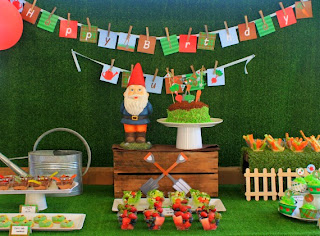 Gardening Party for kids. Printable Decoration Kit