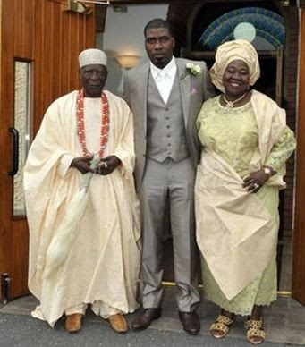 Prince Abidou and his parents, the King and Queen of Lagos