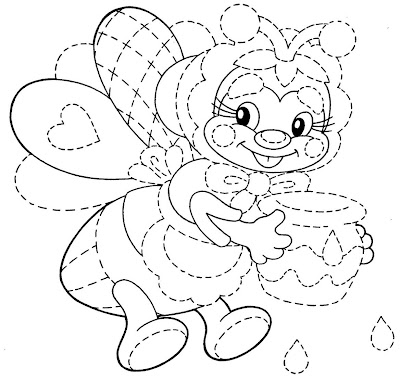 Desenho abelha colorir
