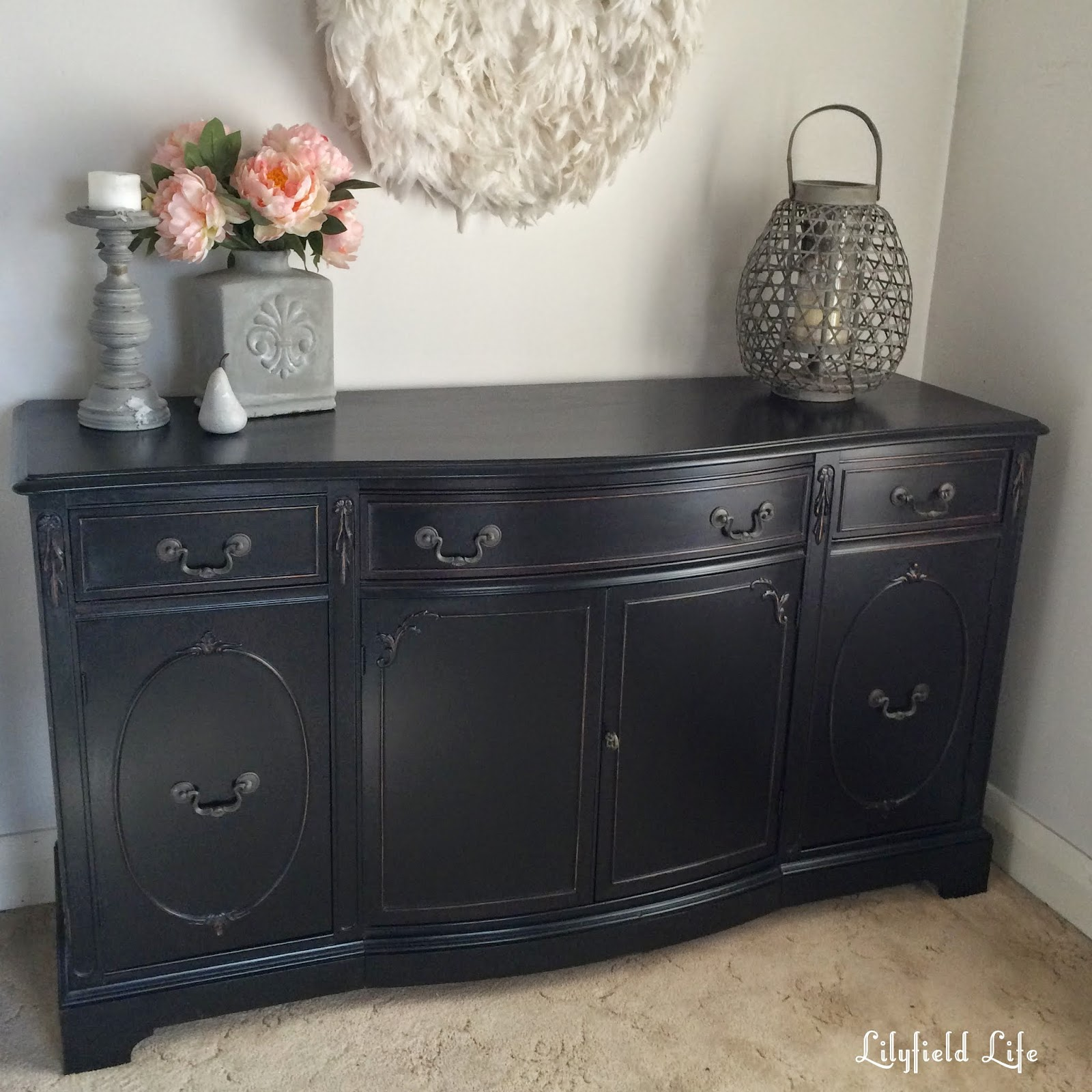 Lilyfield life how to paint furniture black like a boss for Painted buffet sideboard
