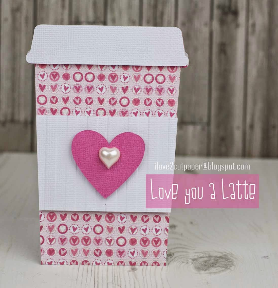 Latte shaped card