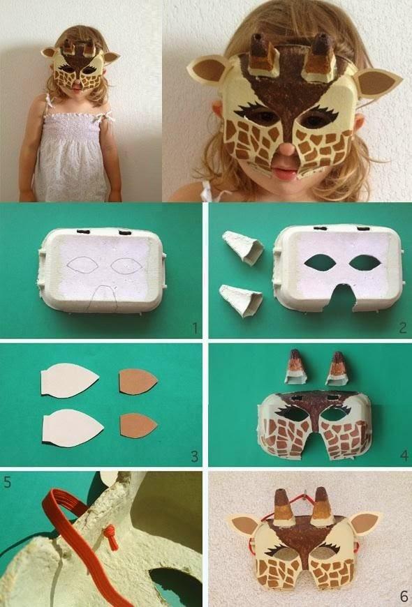 Mascara de Jirafa, Disfraces de Halloween para Niños