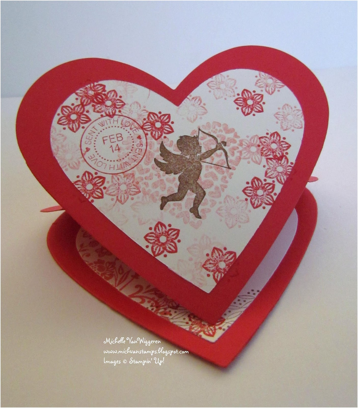 Michelles great paper chase heart shaped easel card at my groups super friends meeting last week we made this heart shaped easel card kristyandbryce Choice Image