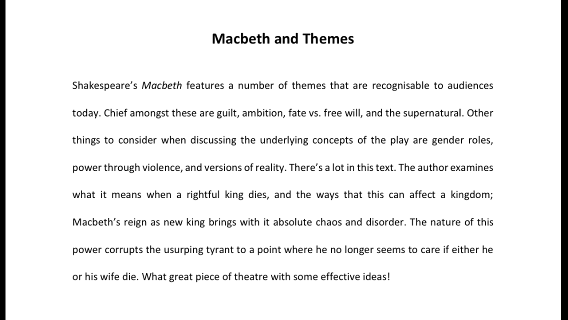 Macbeth's Vaulting Ambition essays