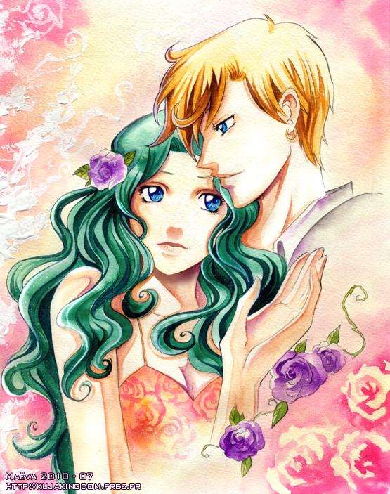 Haruka + Michiru - Sailor Moon por Maevachan