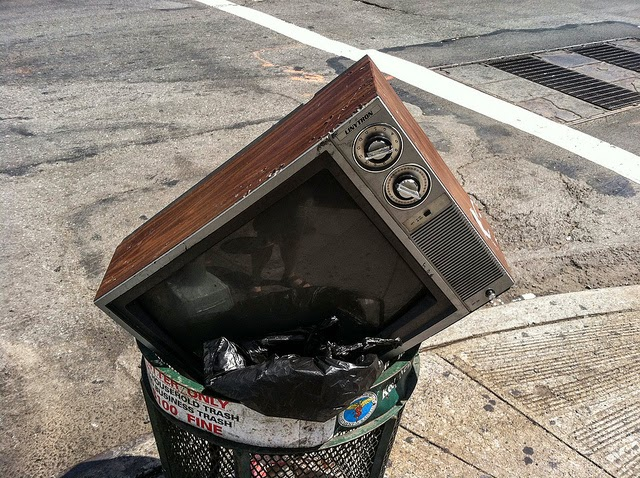 tv in trash