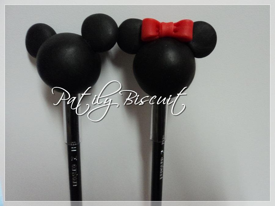 Patily Biscuit: Ponteira de Lápis Mickey e Minnie