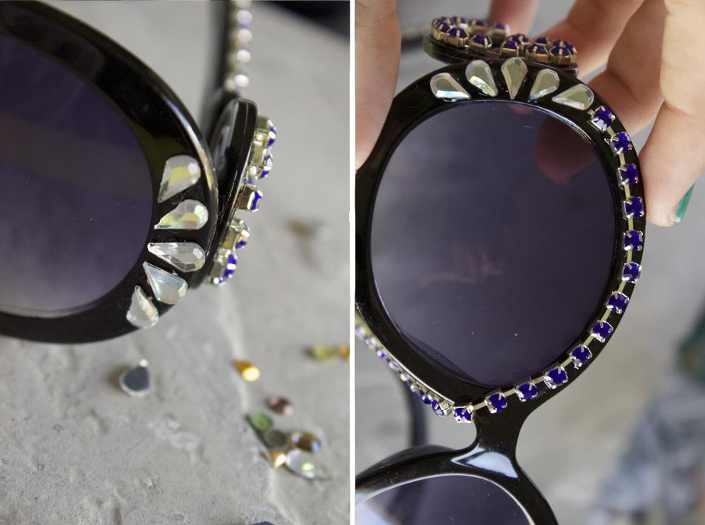 Как украсить солнцезащитные очки своими руками