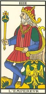 Arcano 4: O Imperador, carta do tarô, tarot, baralho de marselha