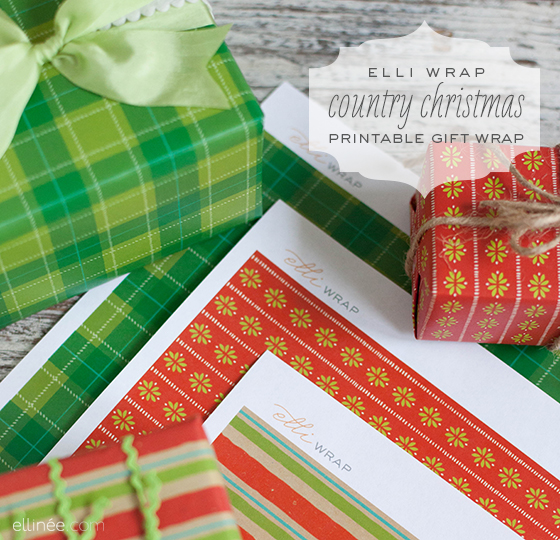 Joy of giving elli wrap collections christmas gift wrap Country christmas gifts to make