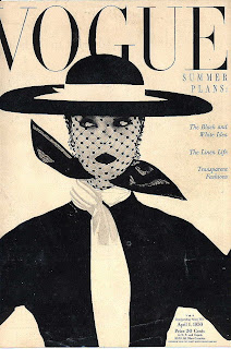 1950s Vogue magazine cover