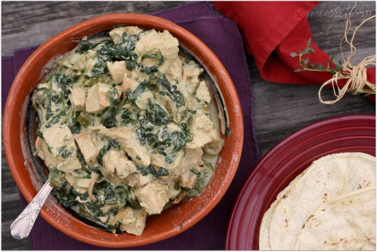 Creamy Chicken & Spinach w/ Roasted Poblanos